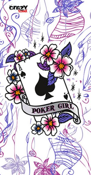 1005 Toalla tattoo poker girl