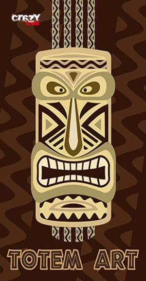 1007 Toalla Totem art brown
