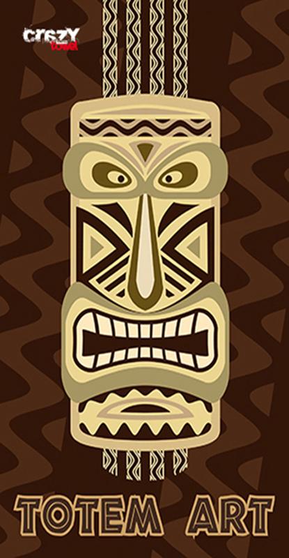 1007 Toalla Totem art brown