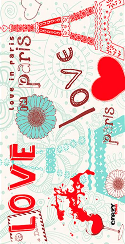 1070 Toalla love paris