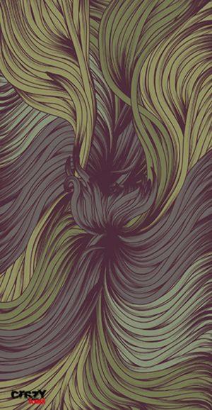 1097 Toalla hair purple