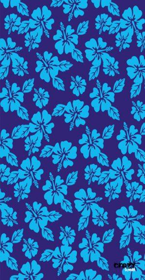 1145 Toalla flores hawaianas azules