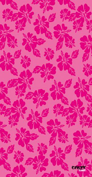 1146 Toalla flores hawaianas rosa