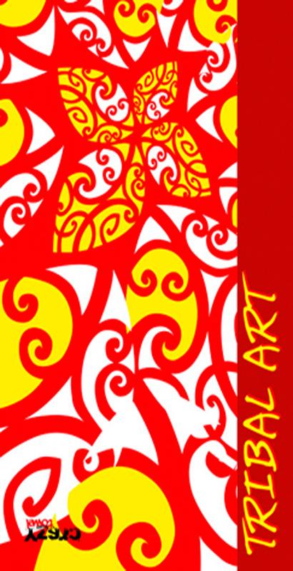 1169 Toalla tribal art rojo