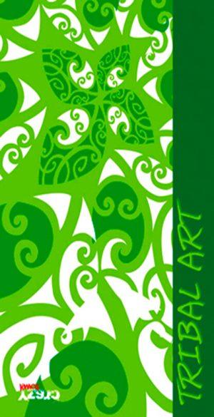 1171 Toalla tribal art verde