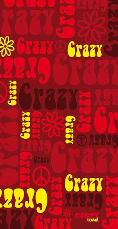1194 Toalla crazy hippie roja