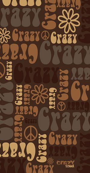 1195 Toalla crazy hippie crema