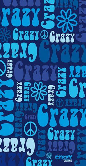 1196 Toalla crazy hippie azul