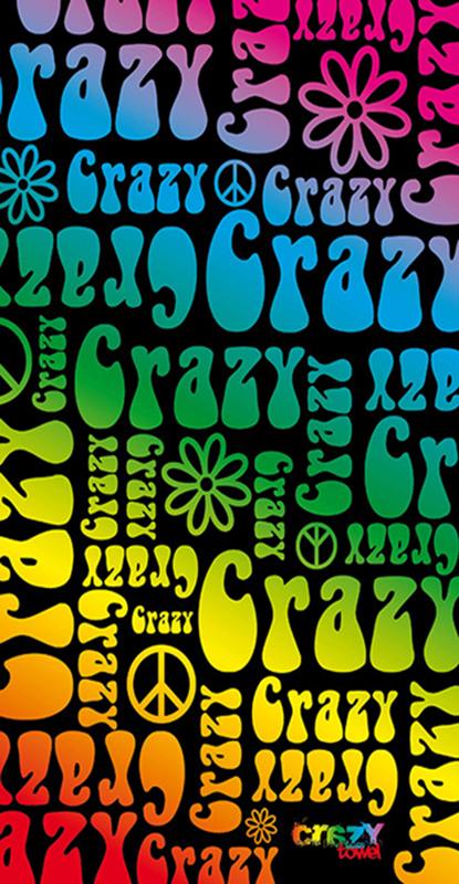 1197 Toalla crazy hippie arcoiris