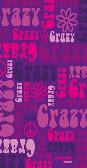 1199 Toalla crazy hippie rosa