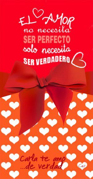 1212 Toalla Lazos de Amor Roja