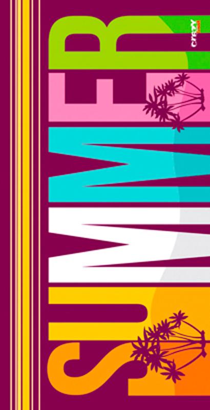 1308 Summer Purple Toalla de microfibra