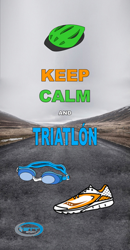 1353 Keep Calm Triathlon