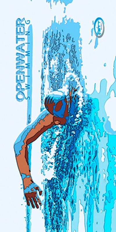 1359 Openwatwer Blue Swimming