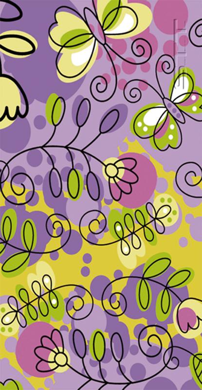641 Toalla flores violeta