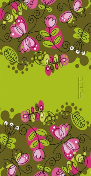 642 Toalla flores verde
