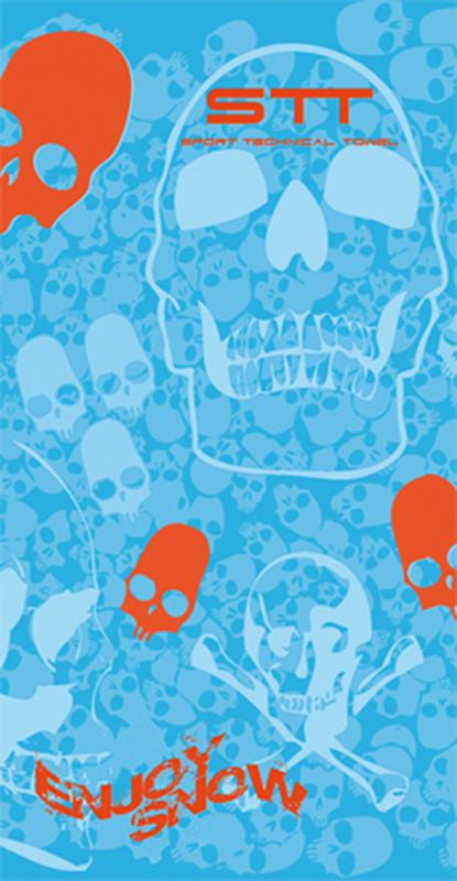 670 Toalla calaveras azules