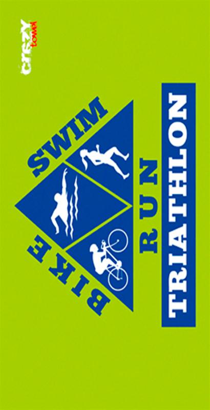 673 Toalla triathlon verde