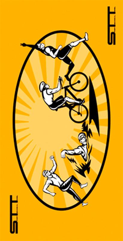 674 Toalla triathlon amarilla