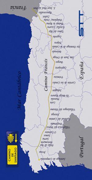 707 Toalla mapa camino de santiago