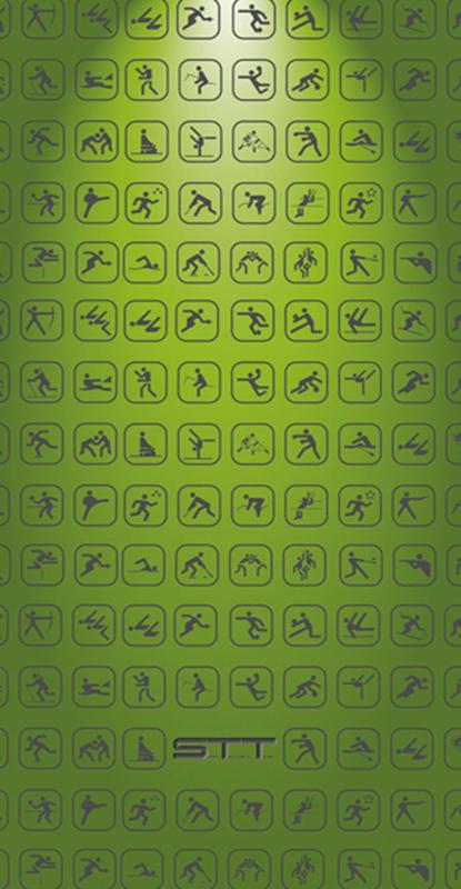 850 Toalla multideporte verde