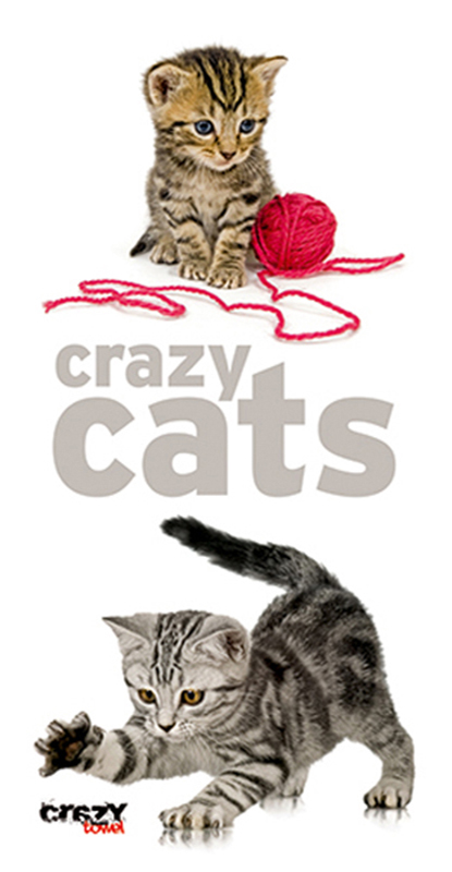 928 Toalla Crazy Cats
