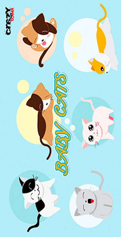 953 Toalla baby cats