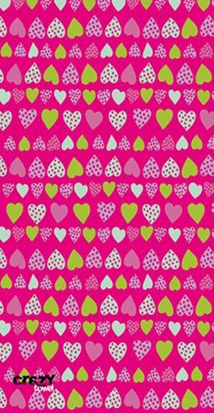 957 Toalla corazones rosa
