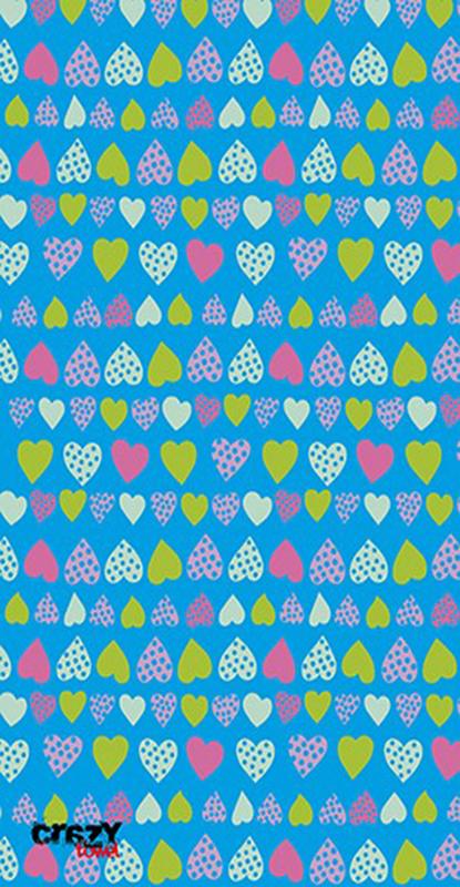 958 Toalla corazones azul