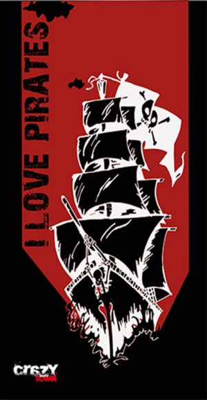 972 Toalla i love pirates