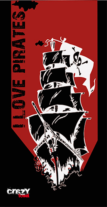 972 Toalla i love pirates