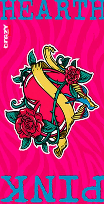 984 Toalla pink heart