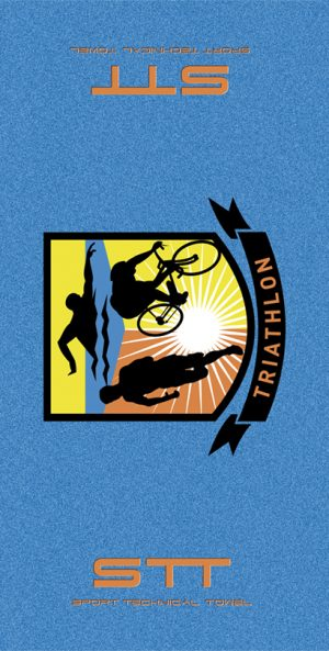 716 Toalla Triathlon Azul