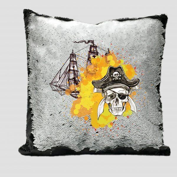 Cojin Lentejuela Piratas 005