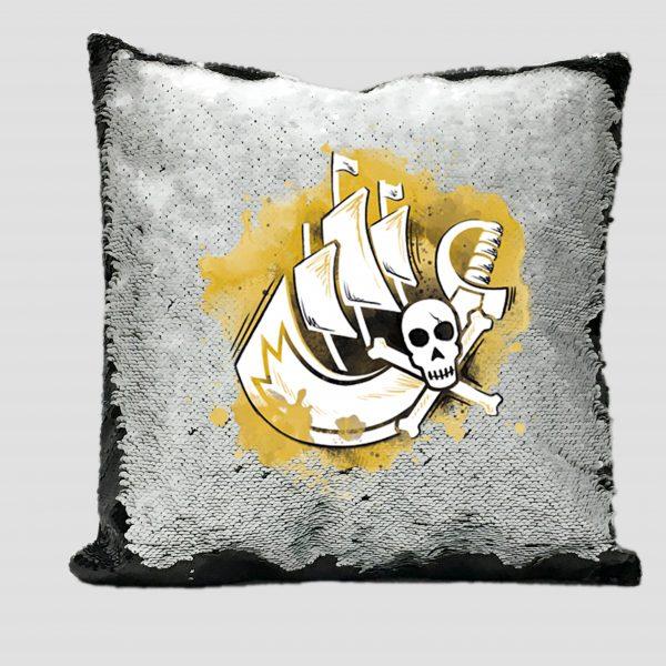 Cojin Lentejuela Piratas 006