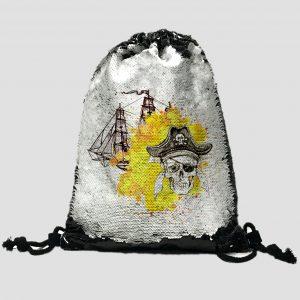 Mochila Lentejuela Piratas 016