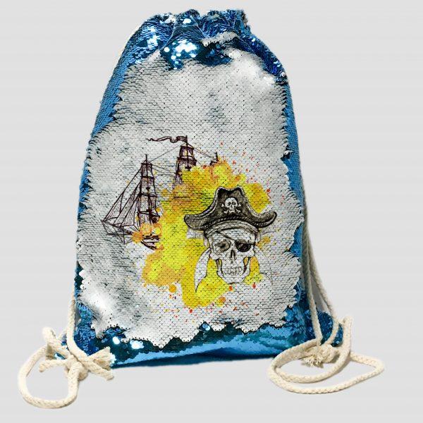 Mochila Lentejuela Piratas 056