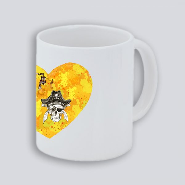 TAZA PIRATAS 1 CORAZON LATERAL