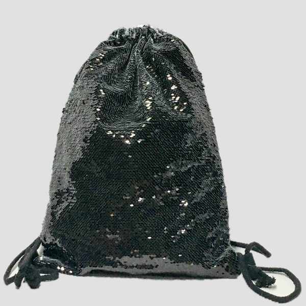 delantera mochila lentejuela negra