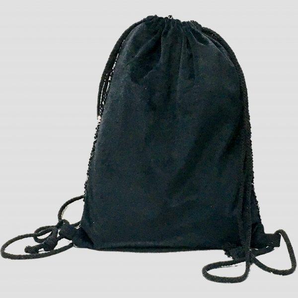 trasera mochila lentejuela negra