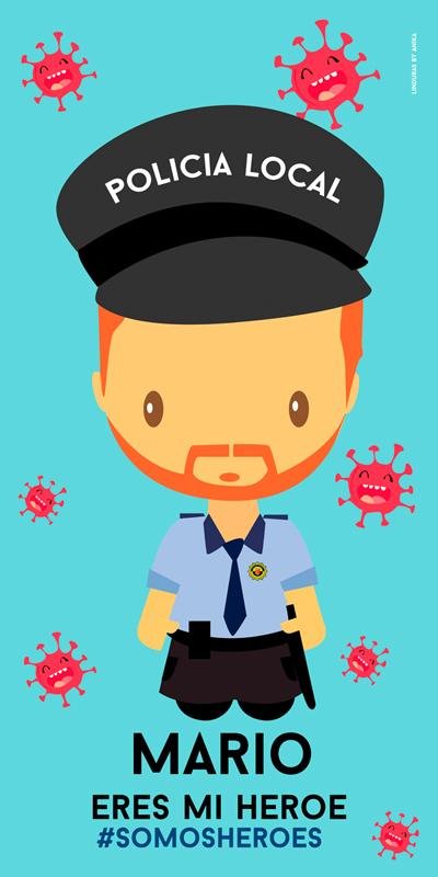 Toalla Policía Local Hombre