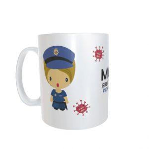 Taza Policía Nacional Mujer