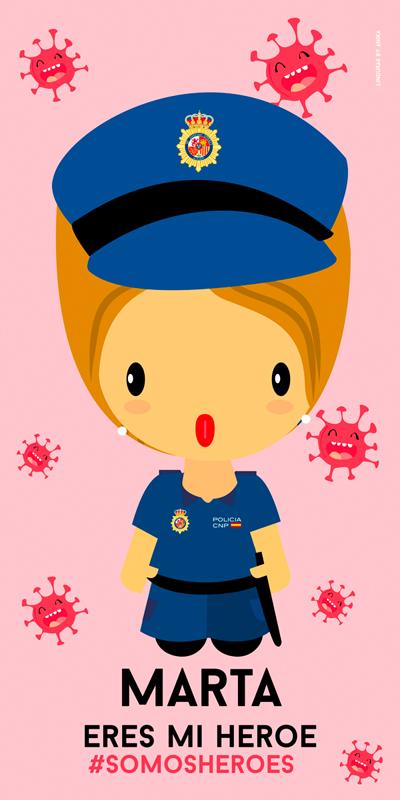 Toalla Policía Nacional Mujer