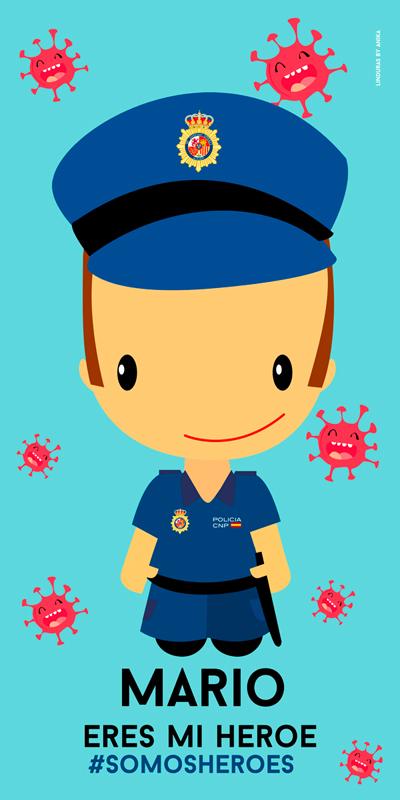 TOALLA POLICIA NACIONAL HOMBRE