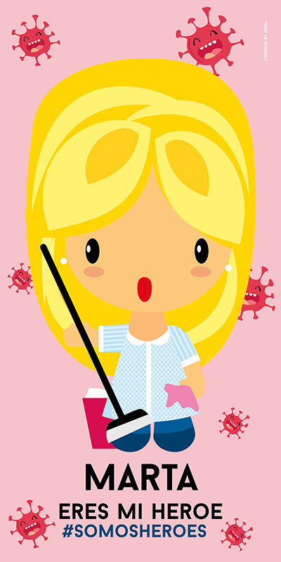 Toalla Servicio Limpieza Mujer