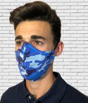 Mascarilla #colormask Camuflaje Blue