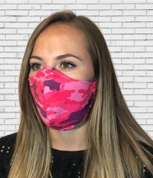 Mascarilla #colormask Camuflaje Pink