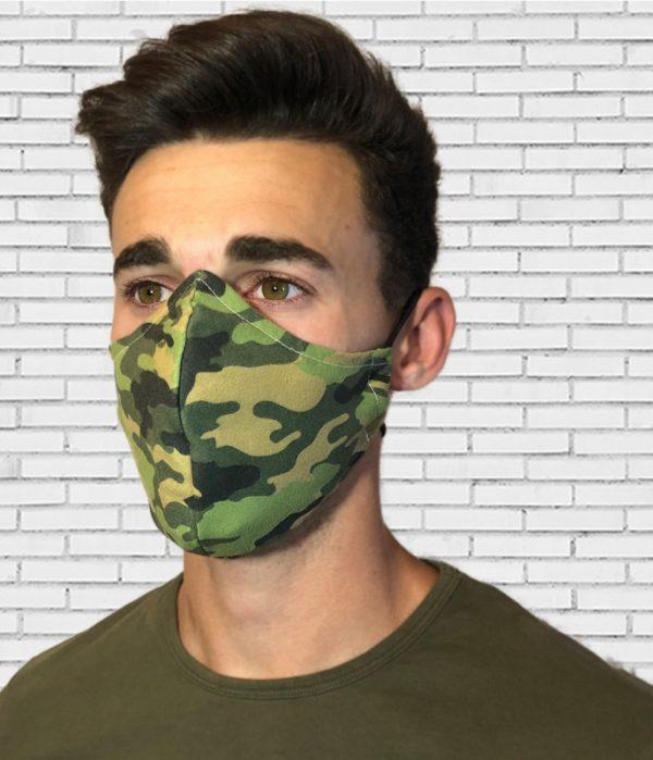 Mascarilla #colormask Camuflaje Green