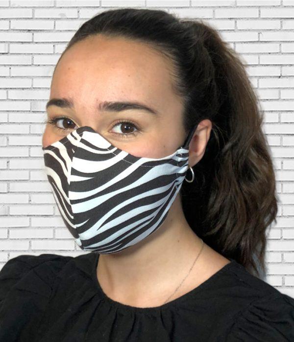 Mascarilla #colormask Zebra Black