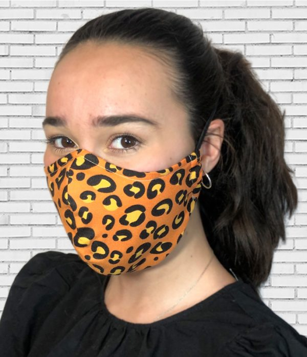 Mascarilla #colormask Leopard Orange
